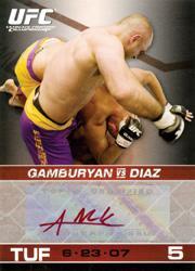 2009 Topps UFC Round 1 Autographs Red Ink #AMG Manny Gamburyan
