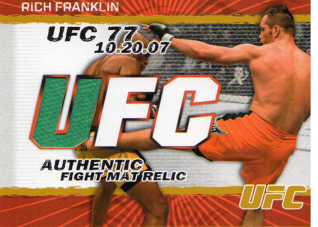 2009 Topps UFC Fight Mat Relics Gold #FMRF Rich Franklin