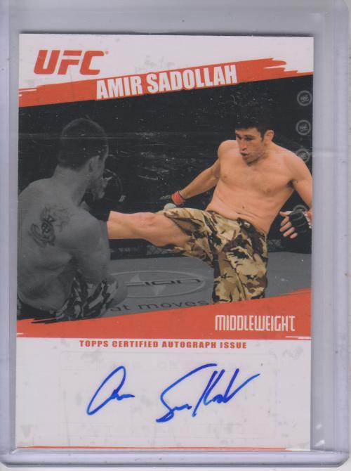 2009 Topps UFC Autographs #FAASA Amir Sadollah E