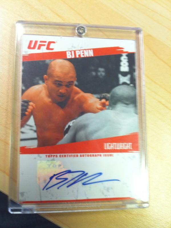 2009 Topps UFC Autographs #FABJP BJ Penn B