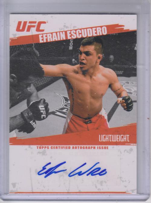 2009 Topps UFC Autographs #FAEE Efrain Escudero E
