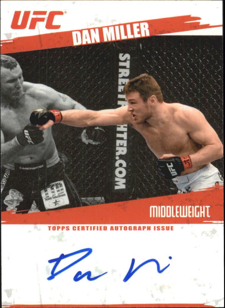 2009 Topps UFC Autographs #FADM Dan Miller D