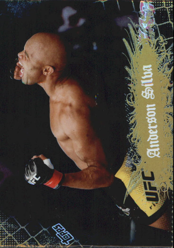 2010 Topps UFC Main Event Gold #10 Anderson Silva
