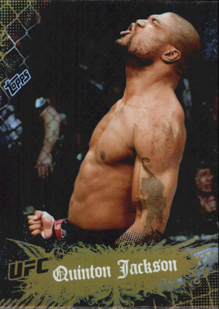 2010 Topps UFC Main Event Gold #37 Quinton Jackson