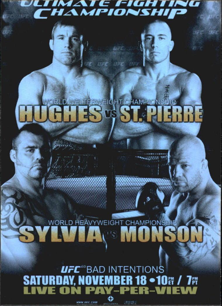 2010 Topps UFC Fight Poster #UFC65 UFC 65/Matt Hughes/Georges St-Pierre/Tim Sylvia/Jeff Monson