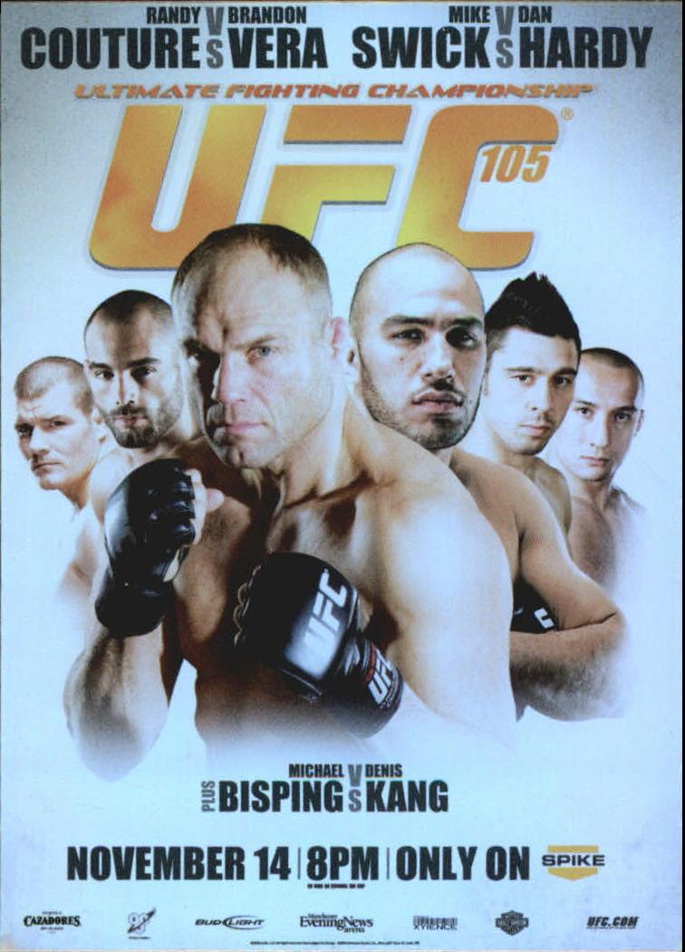 2010 Topps UFC Fight Poster #UFC105 UFC 105/Randy Couture/Brandon Vera/Mike Swick/Dan Hardy/Michael Bisping/Denis Kang