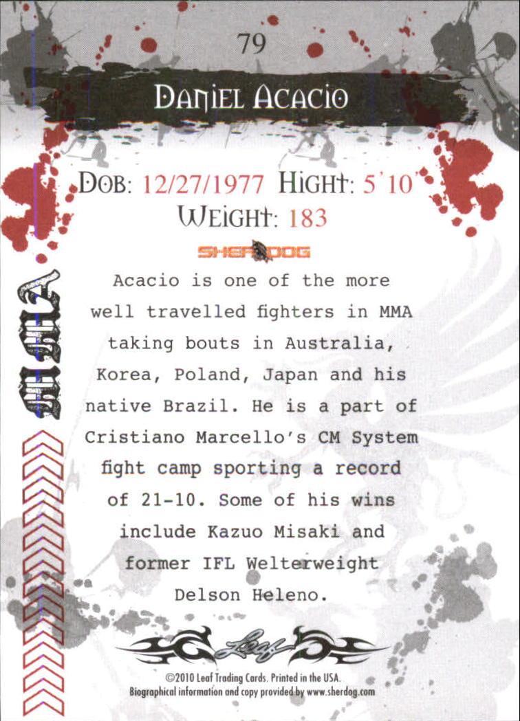 2010 Leaf MMA #79 Daniel Acacio back image