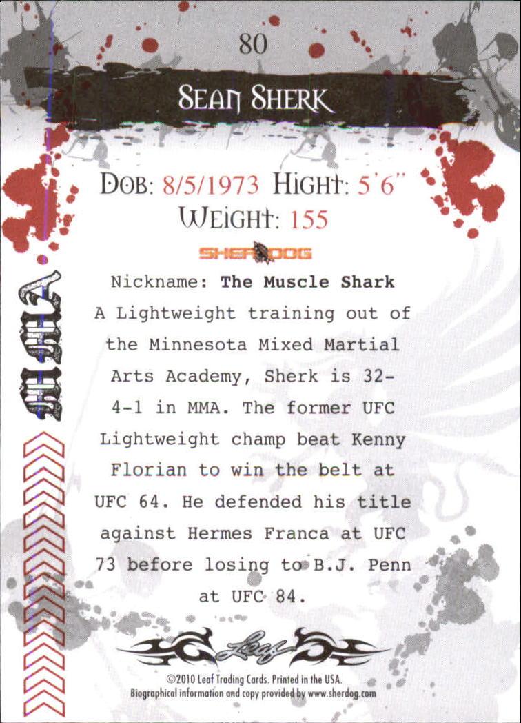 2010 Leaf MMA #80 Sean Sherk back image