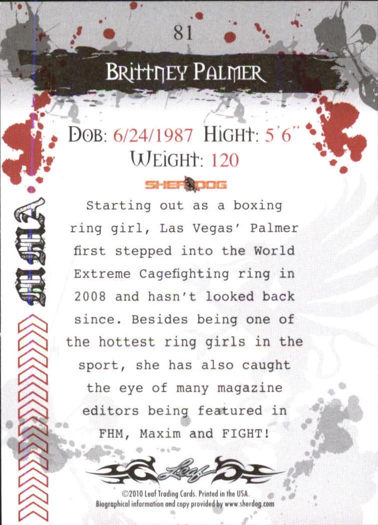 2010 Leaf MMA #81 Brittney Palmer back image