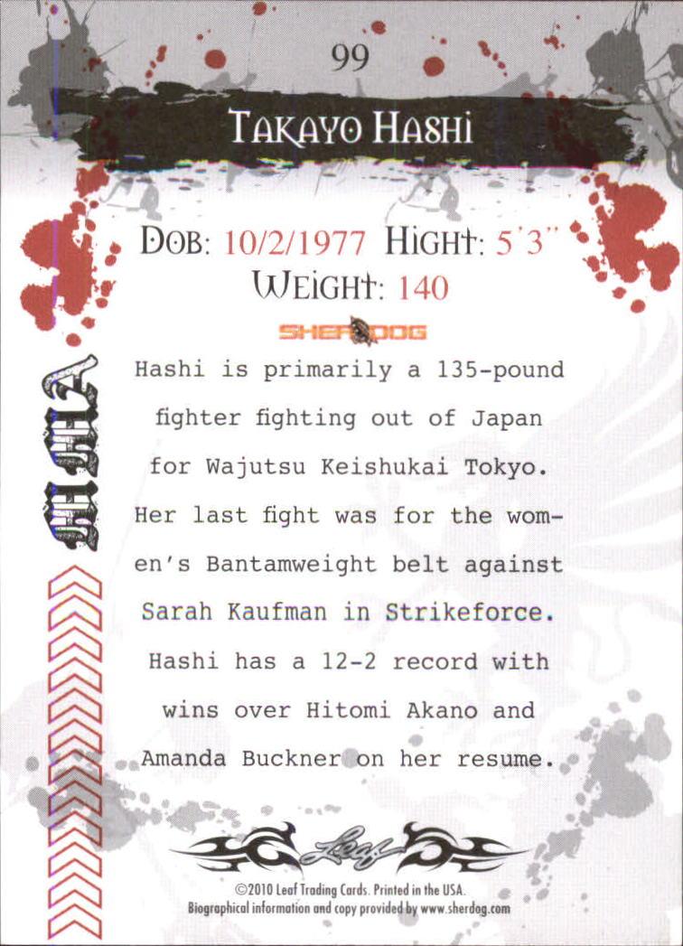 2010 Leaf MMA #99 Takayo Hashi back image