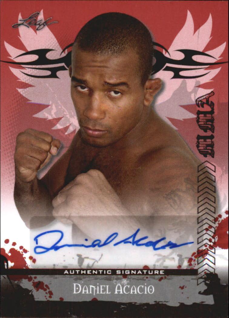 2010 Leaf MMA Autographs Red #AUDA1 Daniel Acacio