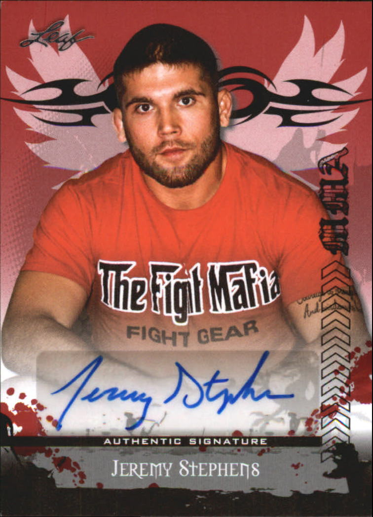 2010 Leaf MMA Autographs Red #AUJS2 Jeremy Stephens