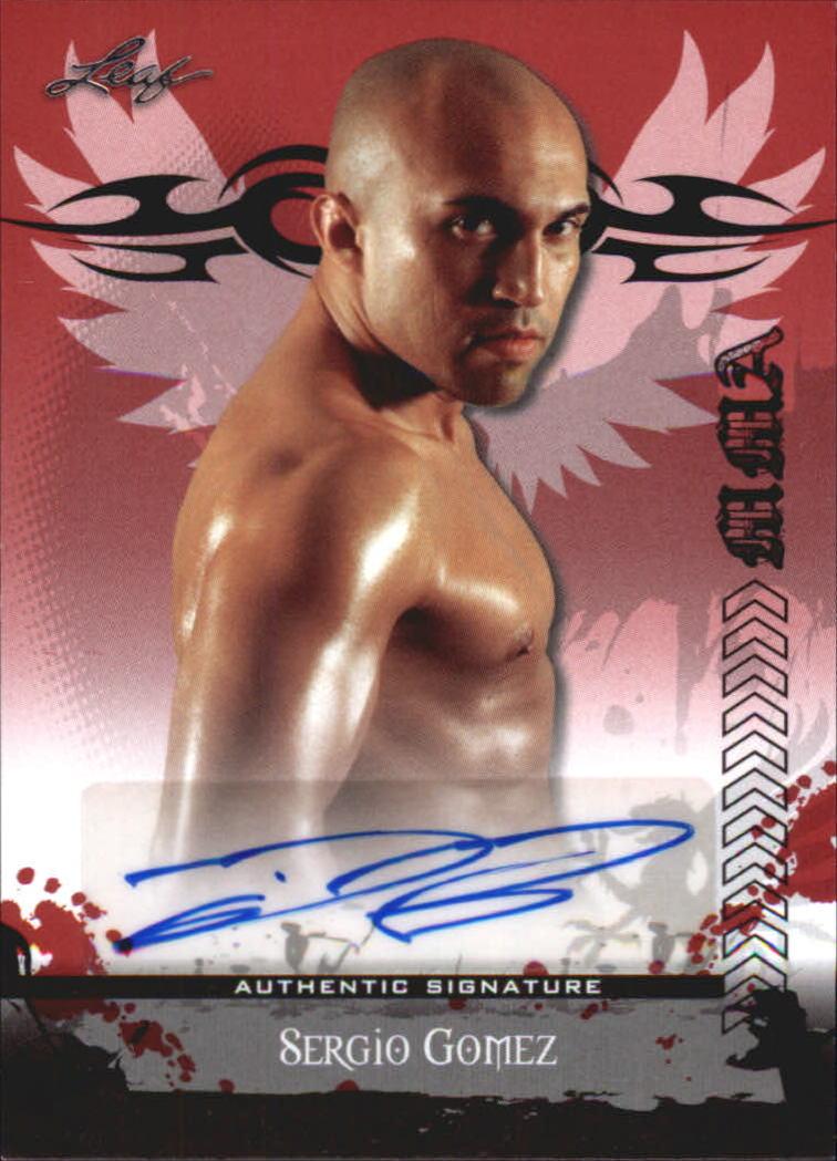 2010 Leaf MMA Autographs Red #AUSG1 Sergio Gomez