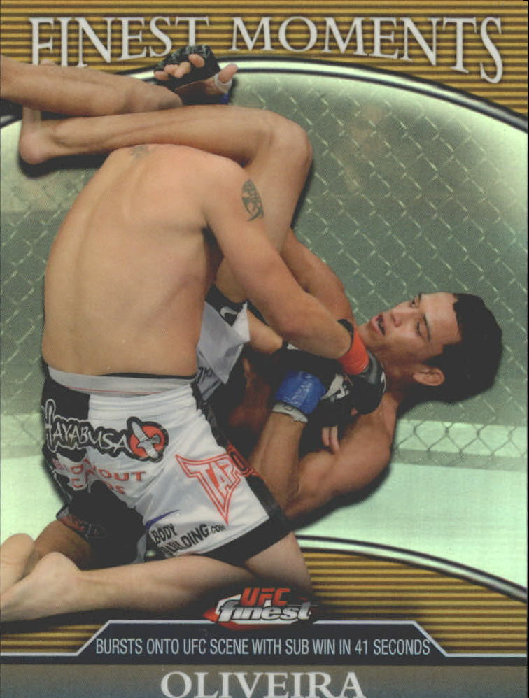 2011 Finest UFC Finest Moments Refractors Gold #FMCO Charles Oliveira