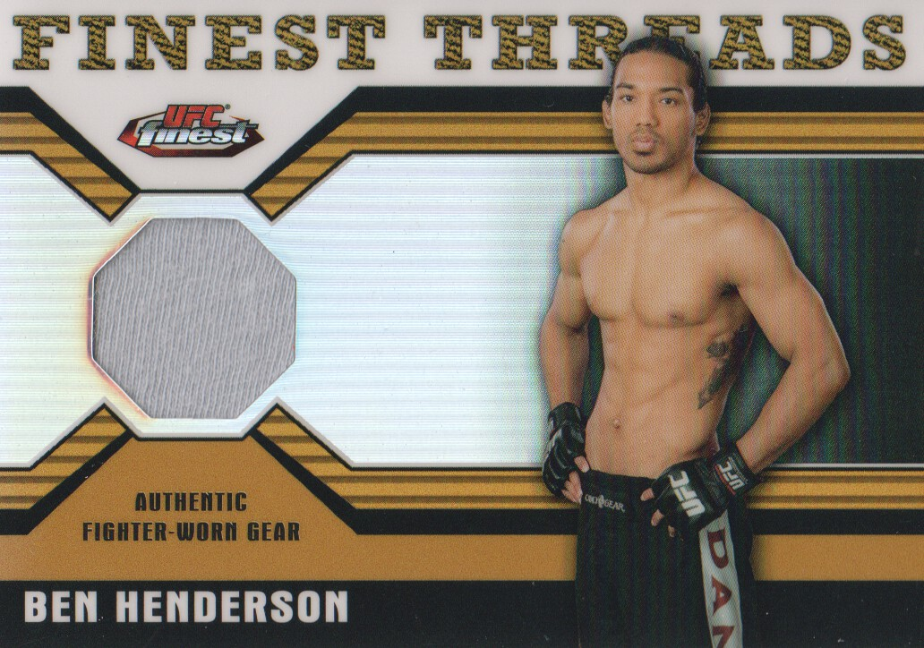 2011 Finest UFC Finest Threads Fighter Relics Refractors Gold #RBH Ben Henderson
