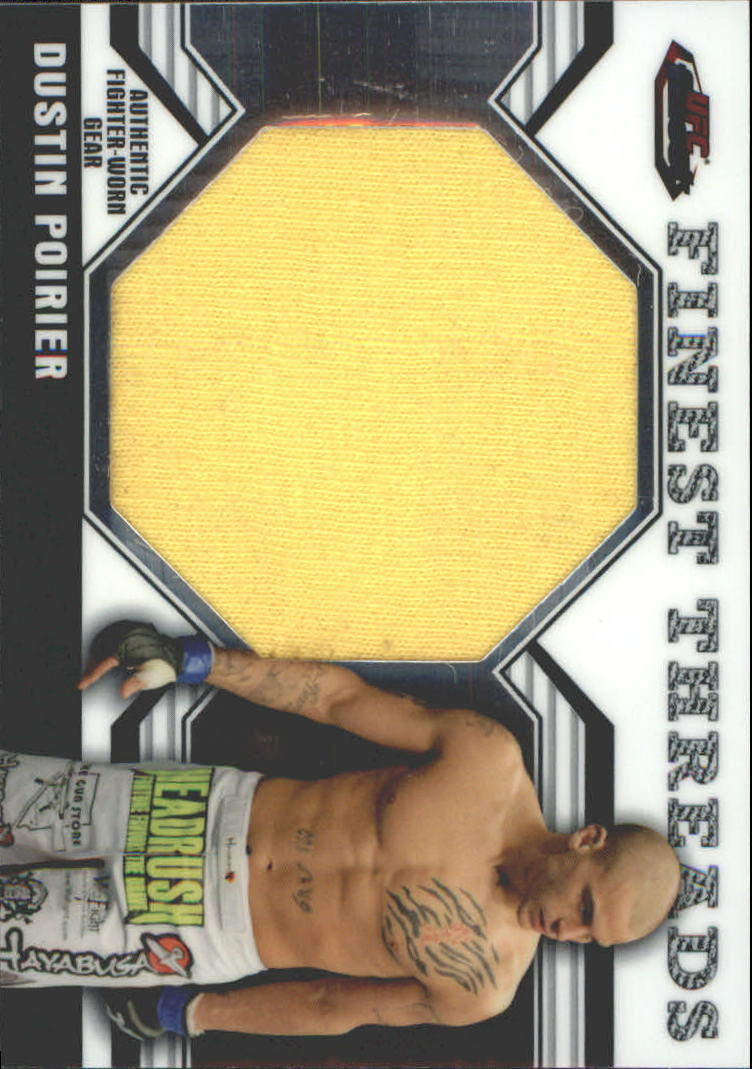 2011 Finest UFC Finest Threads Jumbo Fighter Relics #JRDP Dustin Poirier
