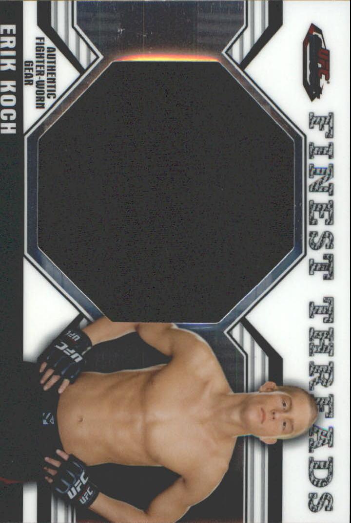 2011 Finest UFC Finest Threads Jumbo Fighter Relics #JREK Erik Koch