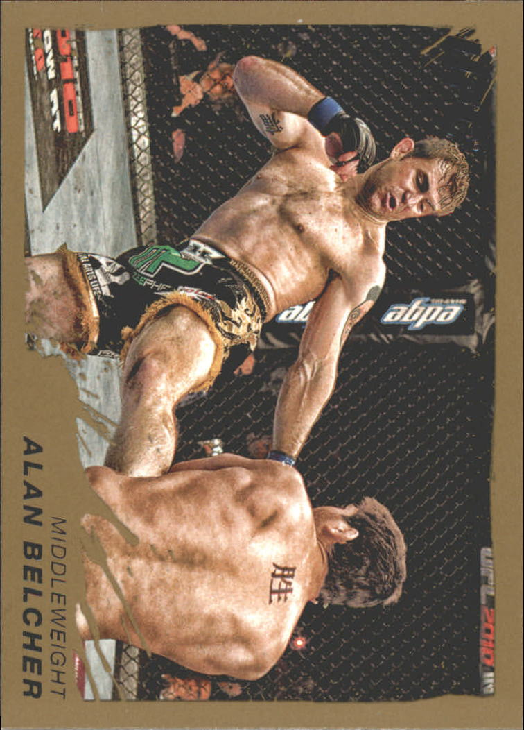 2011 Topps UFC Moment of Truth Gold #57 Alan Belcher