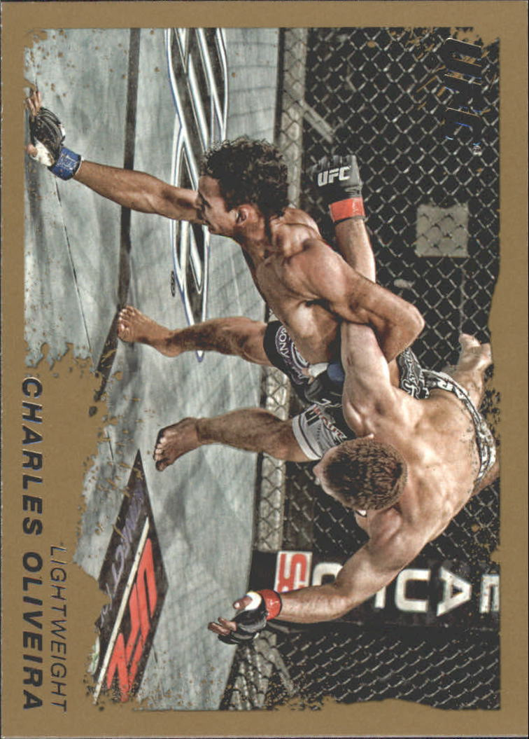 2011 Topps UFC Moment of Truth Gold #79 Charles Oliveira