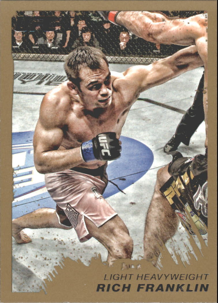 2011 Topps UFC Moment of Truth Gold #83 Rich Franklin