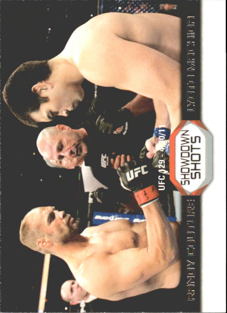2011 Topps UFC Moment of Truth Showdown Shots #SSCM Randy Couture/Lyoto Machida UFC 129