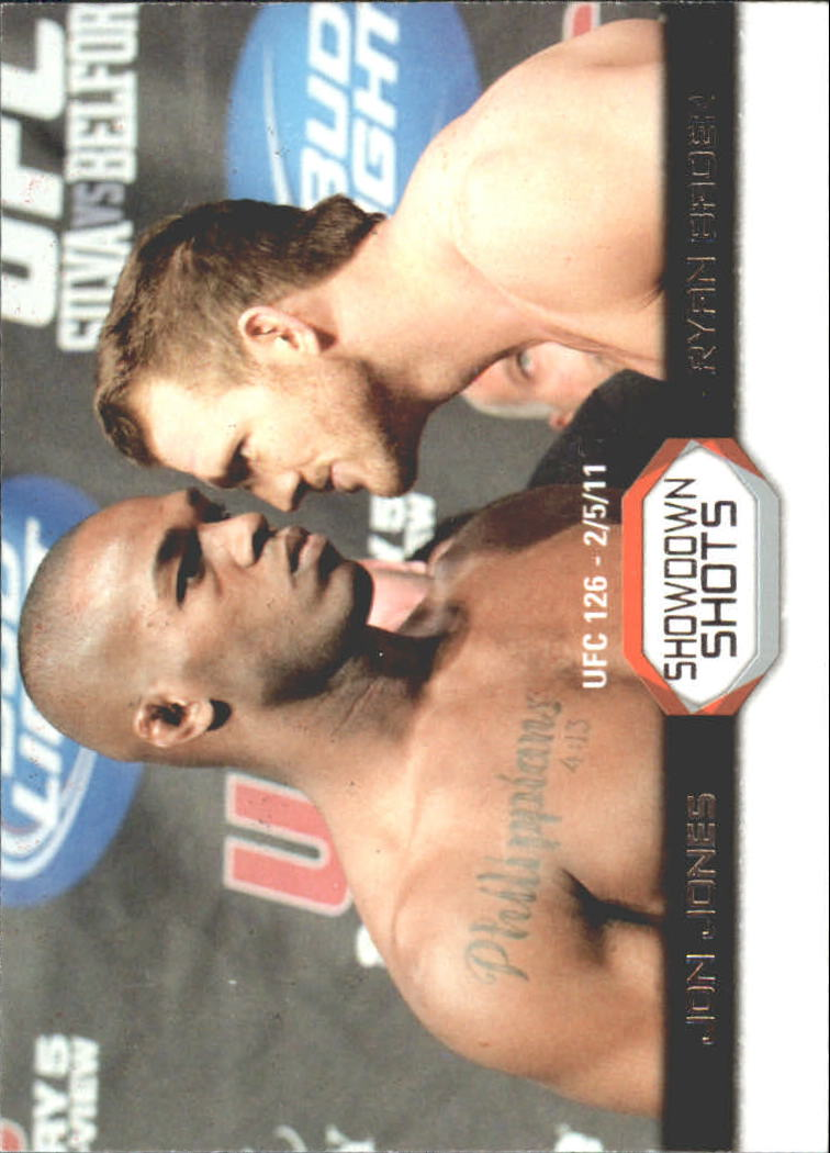 2011 Topps UFC Moment of Truth Showdown Shots #SSJB Jon Jones/Ryan Bader UFC 126