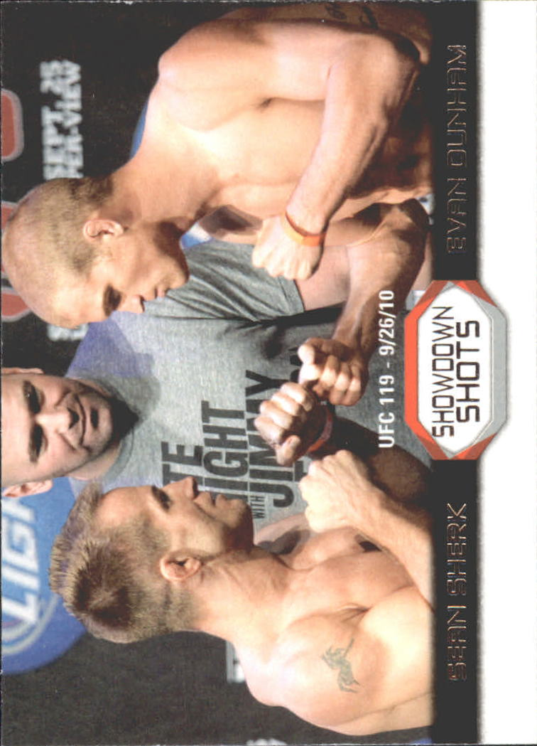 2011 Topps UFC Moment of Truth Showdown Shots #SSSD Sean Sherk/Evan Dunham UFC 119