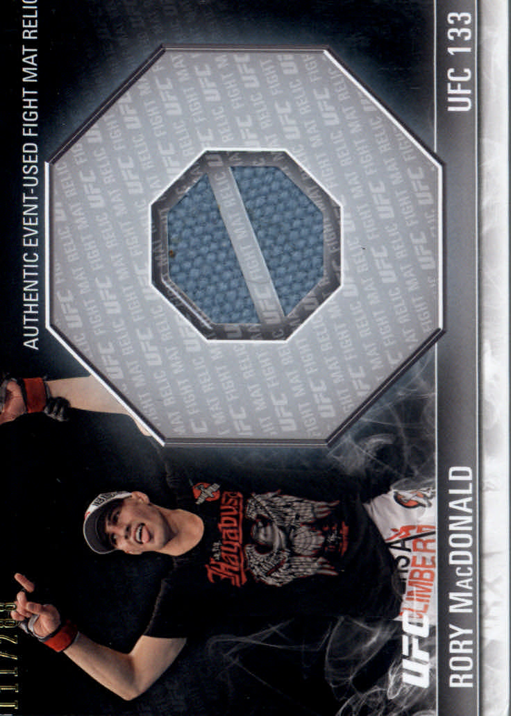 2012 Topps UFC Knockout Fight Mat Relics #FMRM Rory MacDonald