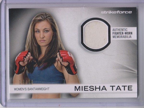 2012 Topps UFC Knockout Fighter Gear Relics #FGMT Miesha Tate