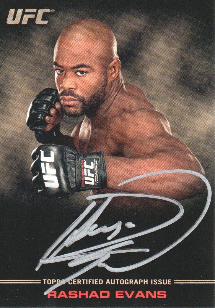 2012 Topps UFC Knockout Full Contact Autographs #FCRE Rashad Evans