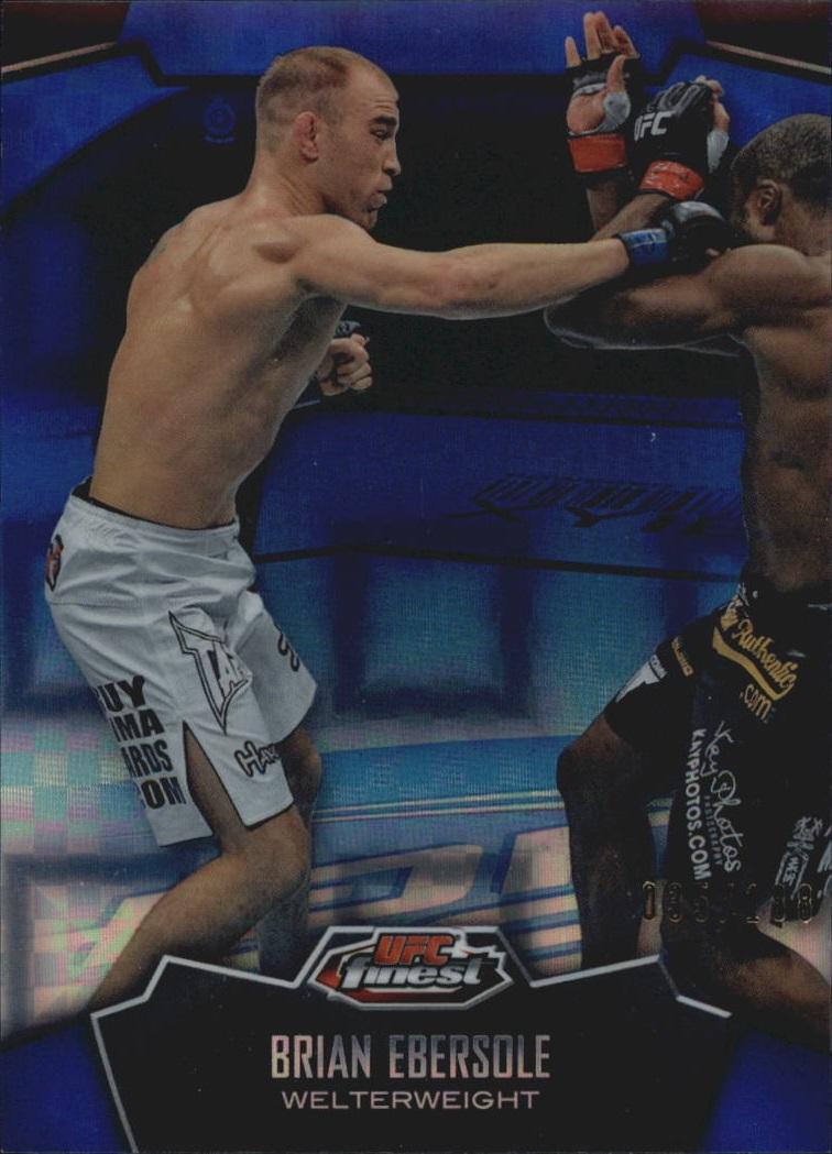 2012 Finest UFC X-Fractors #4 Brian Ebersole