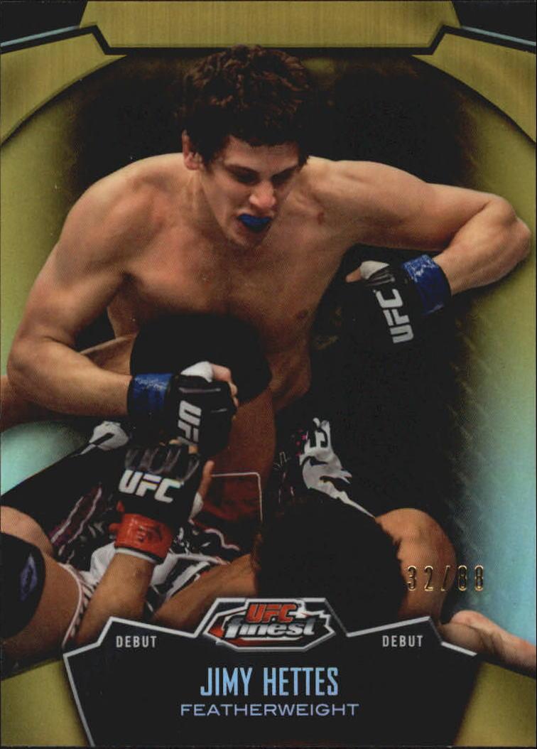 2012 Finest UFC Refractors Gold #48 Jimy Hettes