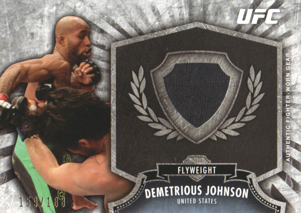 2012 Topps UFC Bloodlines Fighter Relics #FRDJ Demetrious Johnson