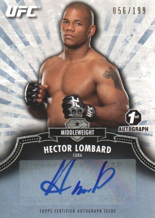 2012 Topps UFC Bloodlines Autographs #AHL Hector Lombard/199