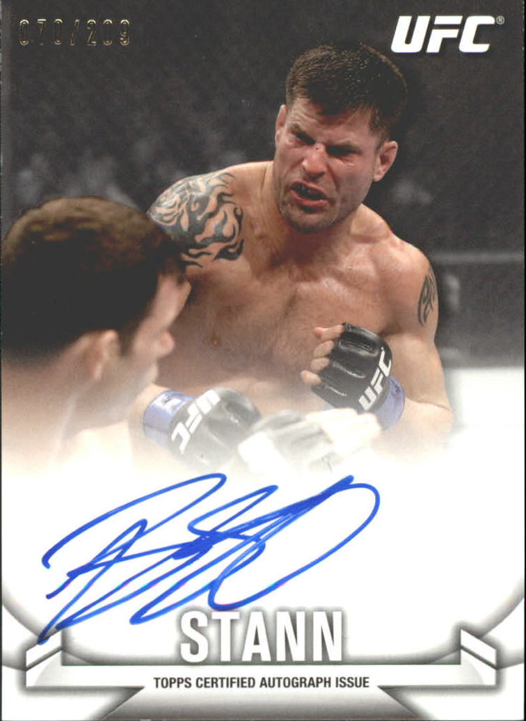 2013 Topps UFC Knockout Autographs #KABS Brian Stann/209