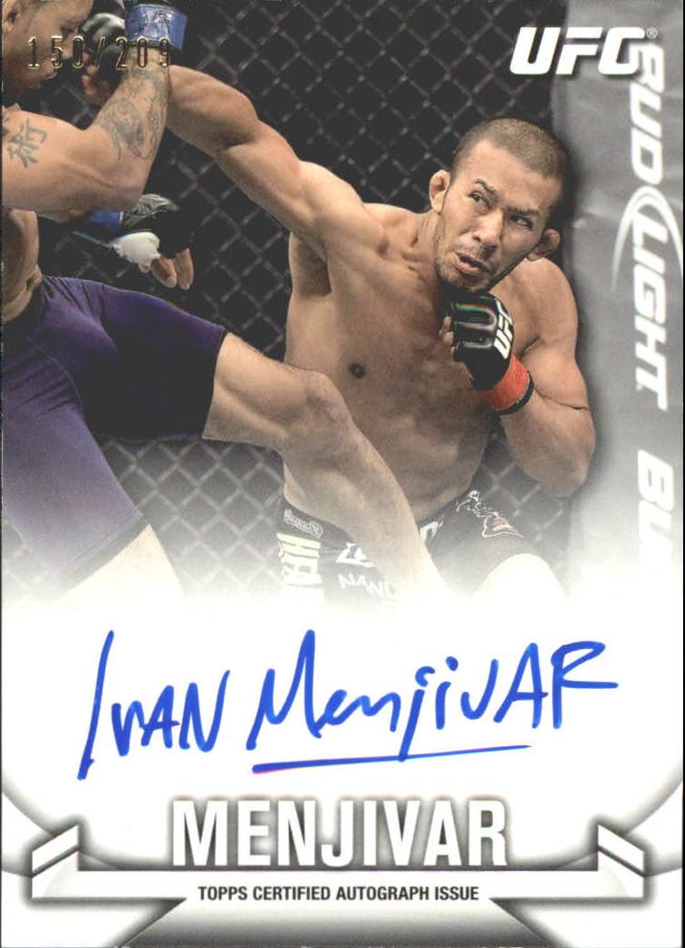 2013 Topps UFC Knockout Autographs #KAIM Ivan Menjivar/209