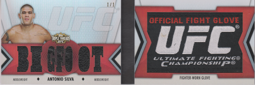 2013 Topps UFC Knockout Glove Patch Booklets #TTGAS Antonio Silva