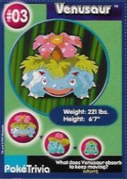 1999 Pokemon Burger King #3  Venusaur
