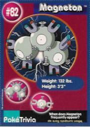 1999 Pokemon Burger King #82  Magneton
