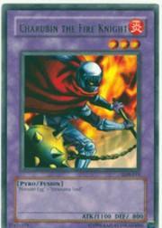 2002 Yu-Gi-Oh Legend of Blue Eyes White Dragon 1st Edition #LOB15 Charubin Fire Knight R