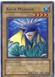 2002 Yu-Gi-Oh Legend of Blue Eyes White Dragon 1st Edition #LOB27 Aqua Madoor R