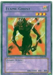 2002 Yu-Gi-Oh Legend of Blue Eyes White Dragon 1st Edition #LOB29 Flame Ghost R