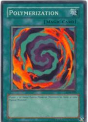 2002 Yu-Gi-Oh Legend of Blue Eyes White Dragon 1st Edition #LOB59 Polymerization SR