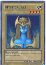 2002 Yu-Gi-Oh Legend of Blue Eyes White Dragon 1st Edition #LOB62 Mystical Elf SR
