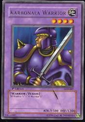 2002 Yu-Gi-Oh Legend of Blue Eyes White Dragon 1st Edition #LOB67 Karbonala Warrior R