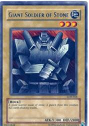 2002 Yu-Gi-Oh Legend of Blue Eyes White Dragon 1st Edition #LOB68 Giant Soldier of Stone R
