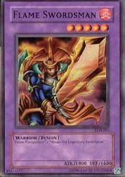 2002 Yu-Gi-Oh Legend of Blue Eyes White Dragon Unlimited #LOB3 Flame Swordsman SR