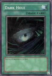 2002 Yu-Gi-Oh Legend of Blue Eyes White Dragon Unlimited #LOB52 Dark Hole SR