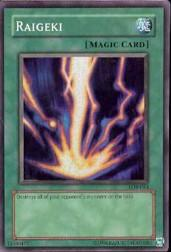 2002 Yu-Gi-Oh Legend of Blue Eyes White Dragon Unlimited #LOB53 Raigeki SR