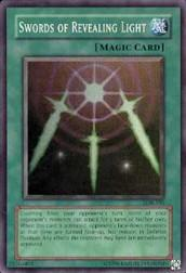 2002 Yu-Gi-Oh Legend of Blue Eyes White Dragon Unlimited #LOB101 Swords of Revealing Light SR
